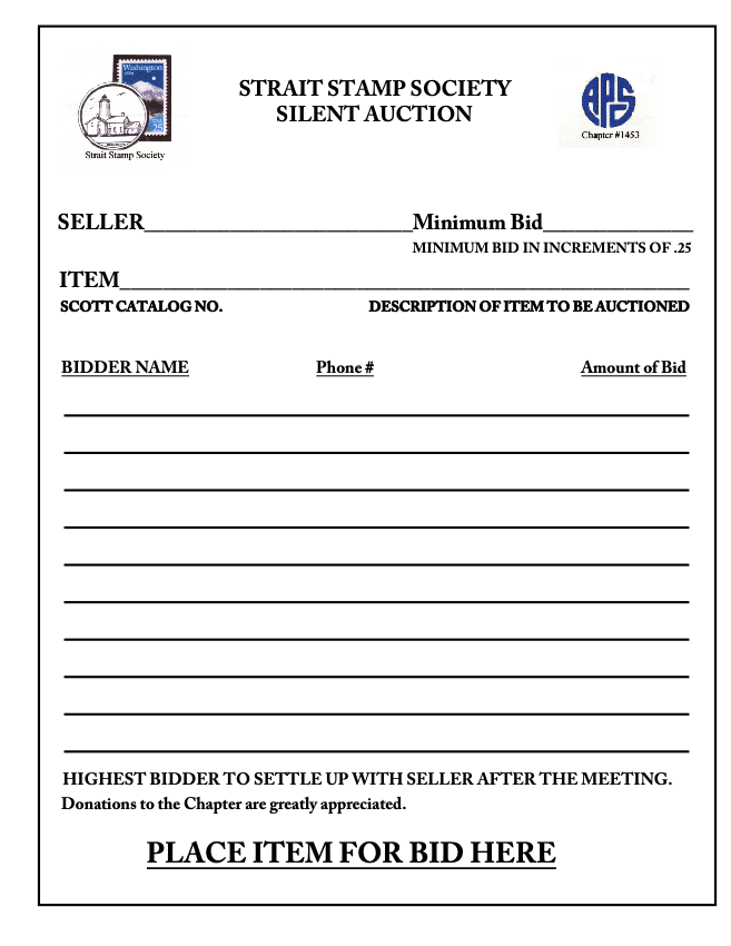 silent auction program template - search results for silent auction bidding sheets
